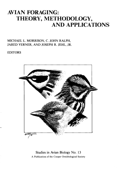 Studies in Avian Biology No. 13